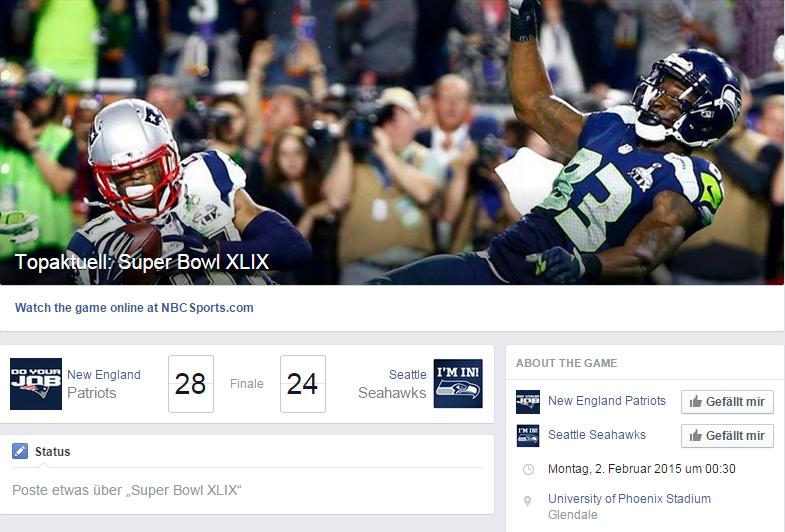 Super Bowl Spielzeit