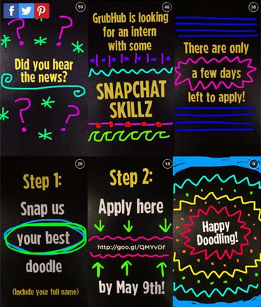 GrubHub.com Snapchat Story