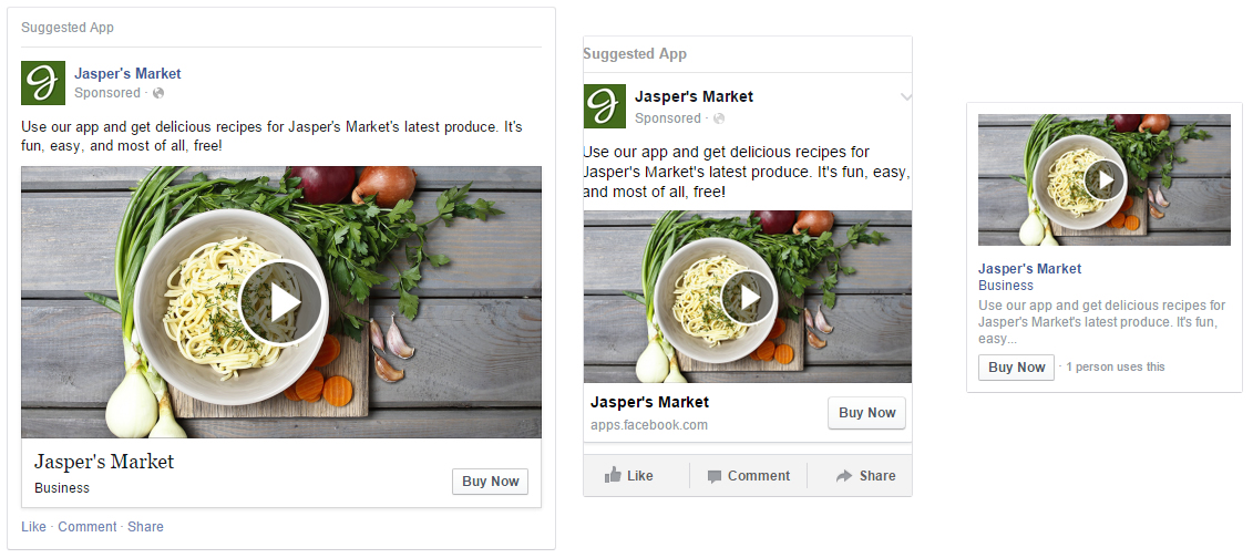 Facebook Video Link Ads für Desktop und Mobile