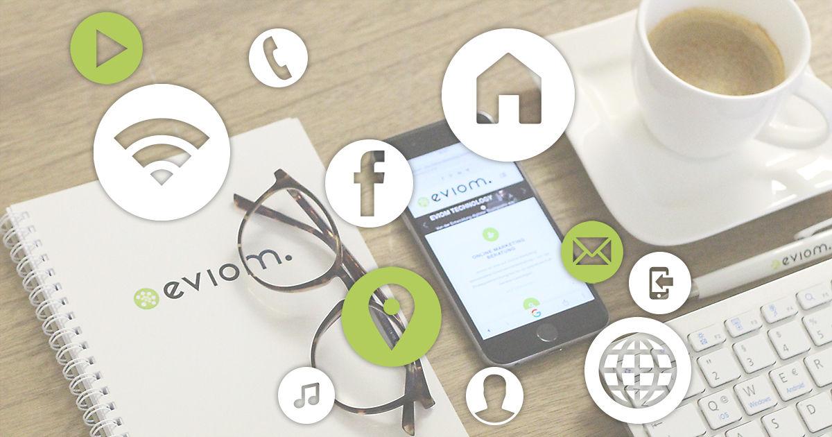 Smartphone mit Icons