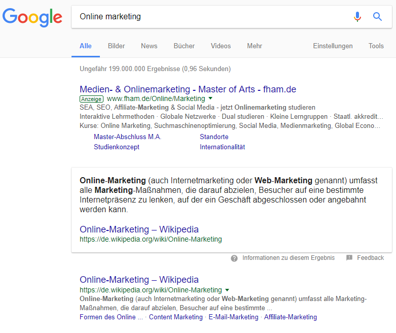 Featured Snippets Google