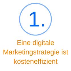 Punkt 1 eine digitale Marketingstrategie ist kosteneffizient