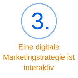 Punkt 3 eine digitale Marketingstrategie ist interaktiv
