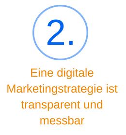 Punkt 2 eine digitale Marketingstrategie ist transparent und messbar